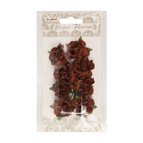 ScrapBerry`s - Paper Flowers - Clove; Dark brown - SCB280410
