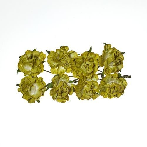 ScrapBerry`s - Paper Flowers - Curly Rose: Green - SCB280603