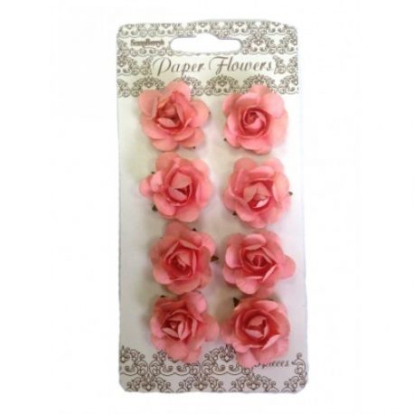 ScrapBerry`s - Paper Flowers - Roses: Light Orange - SCB281513