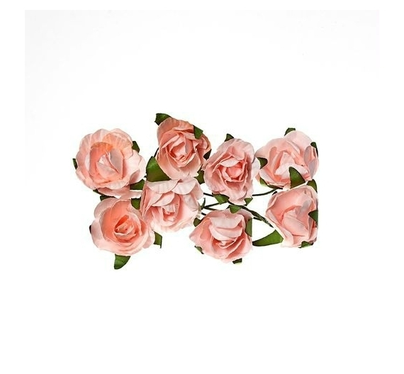 ScrapBerry`s - Paper Flowers - Rose: Light pink - SCB280504