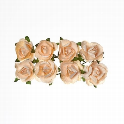 ScrapBerry`s - Paper Flowers - Rose: Peach - SCB280507