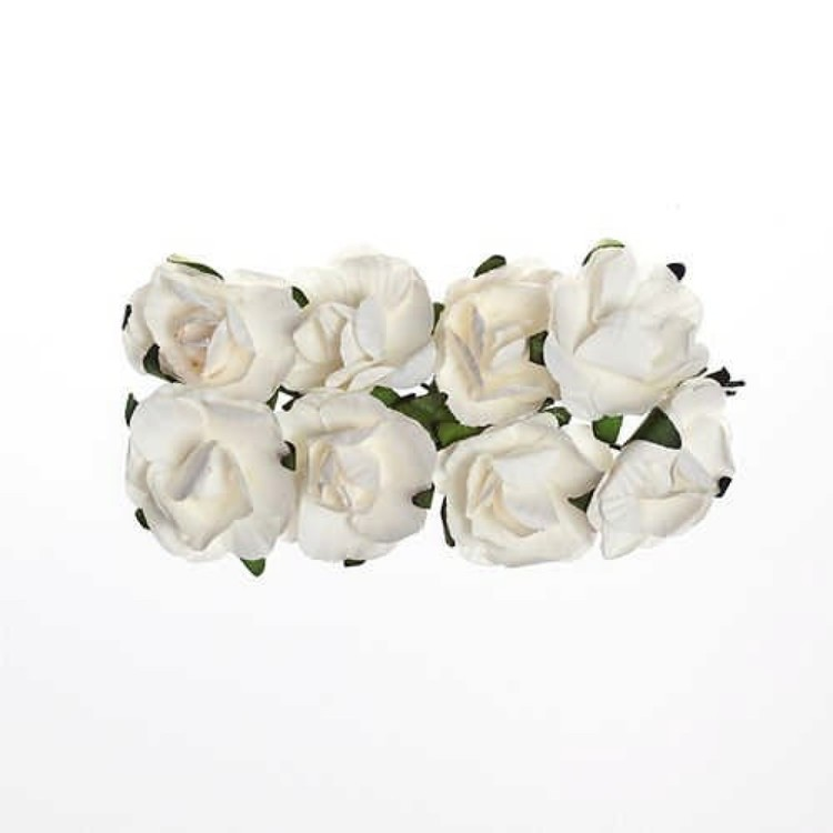 ScrapBerry`s - Paper Flowers - Rose: White - SCB280501