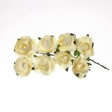 ScrapBerry`s - Paper Flowers - Rose: Cream White - SCB280502