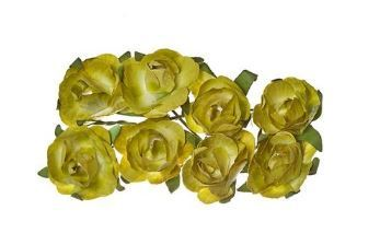 ScrapBerry`s - Paper Flowers - Rose: Green - SCB280503