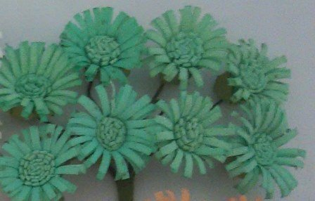 ScrapBerry`s - Paper Flowers - Daises: Turquoise - SCB281407