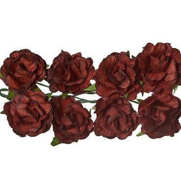 ScrapBerry`s - Paper Flowers - Curly Rose: Brown - SCB280610