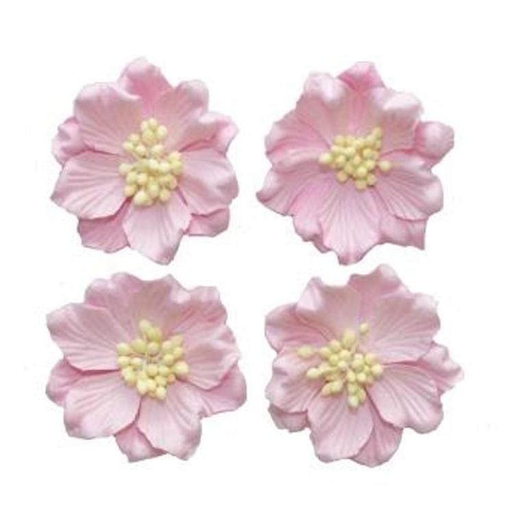 ScrapBerry`s - Paper Flowers - Gardenia: Light Pink - SCB300106