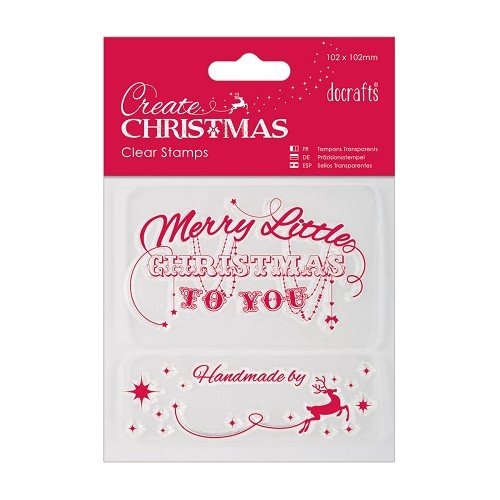 Papermania - Clearstamp - Merry Christmas - Create Christmas - PMA907936