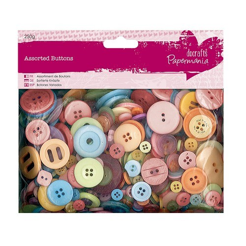 Papermania - Assorted Buttons: Mixed Brights - PMA354312