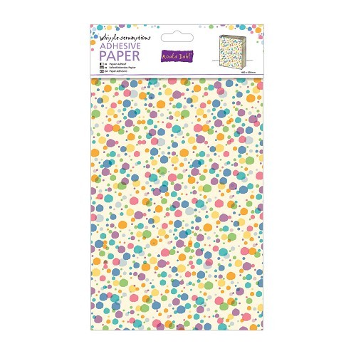 Papermania - Roald Dahl - Adhesive Paper - Coloured Spots - RLD172102