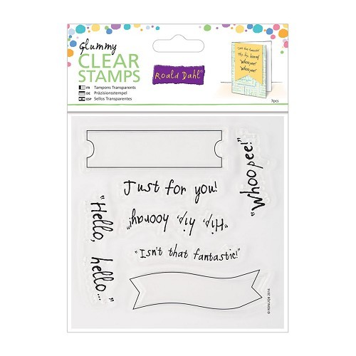 Docrafts - Roald Dahl - Clearstamp - Hello Hello - RLD907106