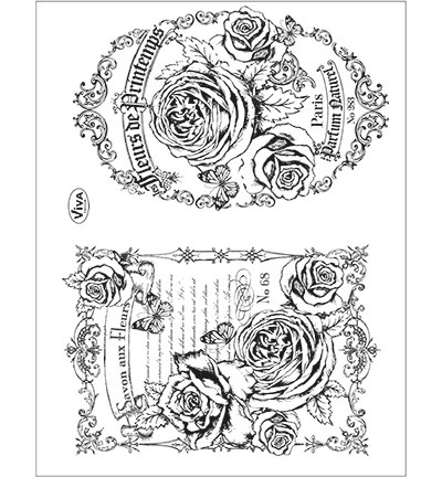 Viva Decor - Clearstamp - Fleurs de Printemps - 4003 096 00