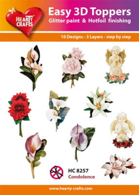 Hearty Crafts - Easy 3D Toppers - Condolence - HC8257