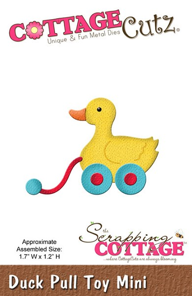 Cottage Cutz - Die - Duck Pull Toy Mini - CC-MINI-159