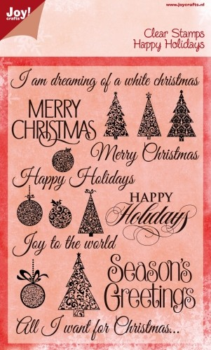 Joy! crafts - Noor! Design - Clearstamp - Happy Holidays - 6410/0118