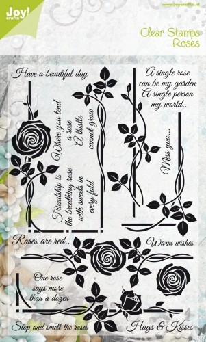 Joy! crafts - Noor! Design - Clearstamp - Roses - Have a beautiful day - 6410/0310