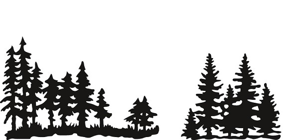 Marianne Design - Die - Craftables - Pine Trees - CR1287