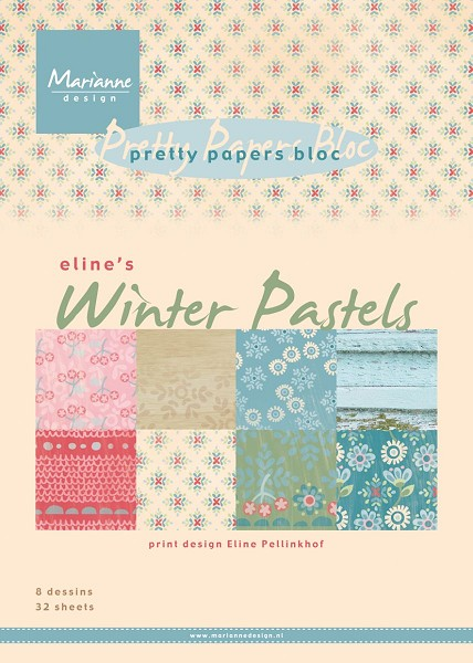 Marianne Design - Paperpack - Pretty Papers - Winter Pastels - PB7046