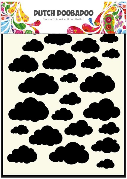 Dutch Doobadoo - Maskingstencil - Clouds - 470.715.029