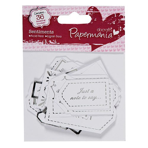 Papermania - Labels: All Occasion Sentiments