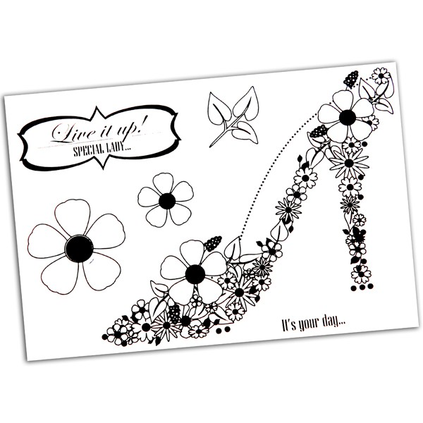 Anna Marie Designs - Clearstamp - Blooming Shoe - NBLSHOE