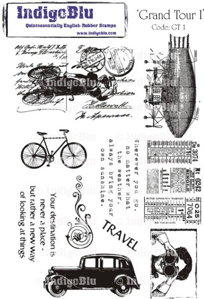 IndigoBlu - Cling Stamp - Grand Tour I - GTI