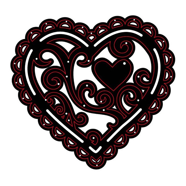 Crafts-Too - Die - Cutting & Embossing - Heart Delight