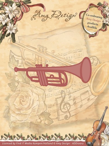 Amy Design - Die - Vintage Christmas Collection - Trumpet - ADD10012