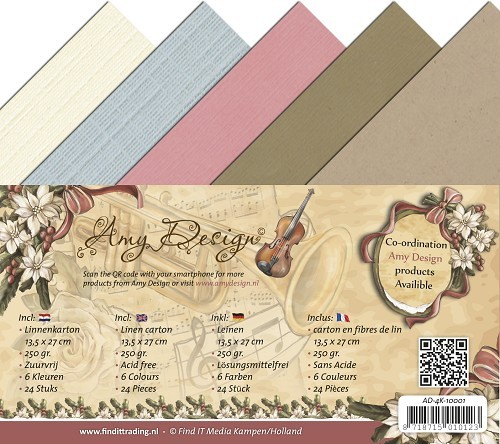 Amy Design - Linnenpakket 135 x 270mm - Vintage Christmas Collection - AD-4K-10001