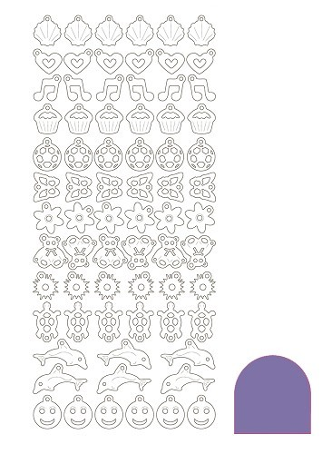 Hobbyjournaal - Stickervel - Charm - Mirror: Purple - STCH019