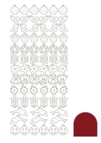Hobbyjournaal - Stickervel - Charm - Mirror: Red - STCH014