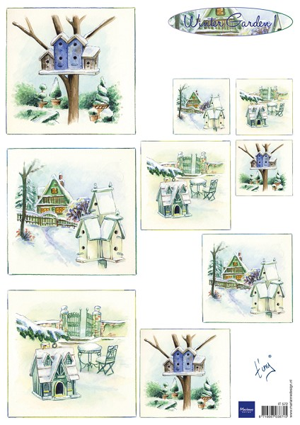 Marianne Design - Tiny`s - 3D-knipvel A4 - Winter Garden