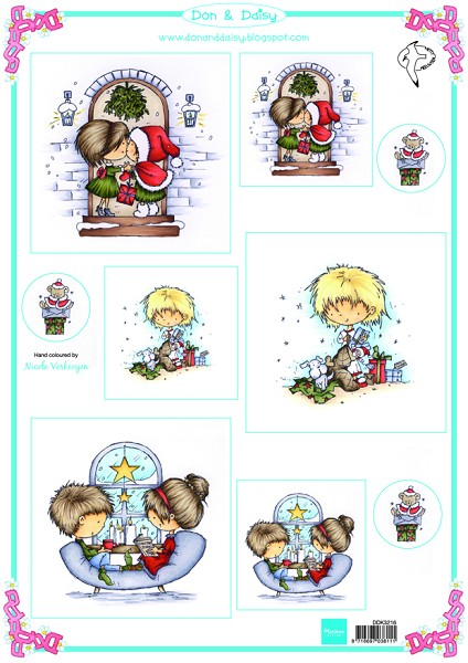 Marianne Design - Don & Daisy - 3D-knipvel A4 - Christmas joy