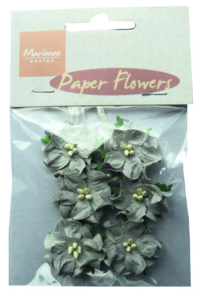 Marianne Design - Paper flowers: Grey - RB2229