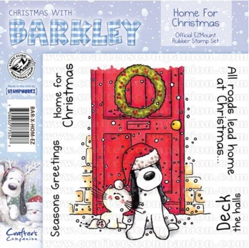 Crafter`s Companion - Barkley - Cling Stamp - Home for Christmas - BAR-X-HOM-EZ