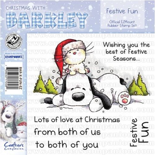 Crafter`s Companion - Barkley - Cling Stamp - Festive Fun - BAR-X-FUN-EZ