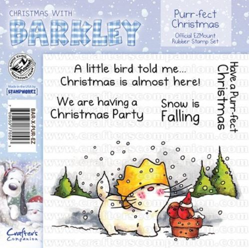 Crafter`s Companion - Barkley - Cling Stamp - Purr-fect Christmas - BAR-X-PUR-EZ