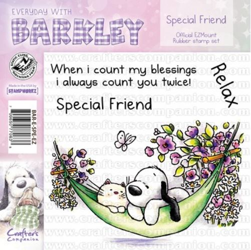 Crafter`s Companion - Barkley - Cling Stamp - Special Friend - BAR-E-SPE-EZ