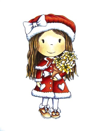 Paper Nested Dolls - Cling Stamp - Christmas Flower Avery - 70028
