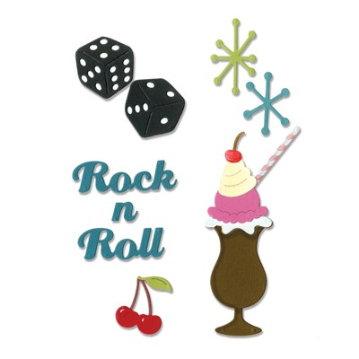Sizzix - Die - Thinlits - Rock `n Roll Sundae