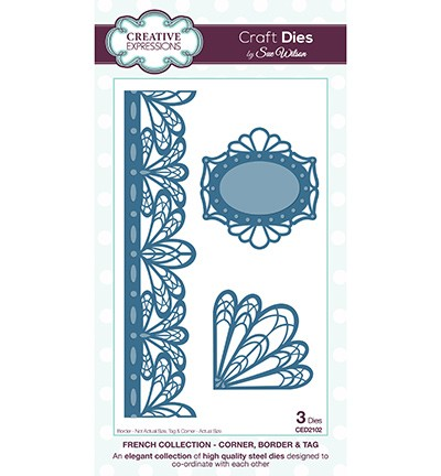 Creative Expressions - Die - The French Collection - Corner, Border & Tag