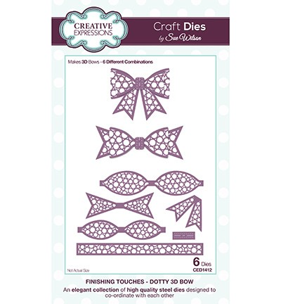 Creative Expressions - Die - The Finishing Touches Collection - Dotty 3D Bow