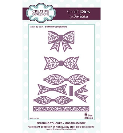 Creative Expressions - Die - The Finishing Touches Collection - Mosaic 3D Bow