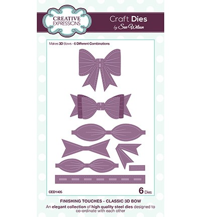 Creative Expressions - Die - The Finishing Touches Collection - Classic 3D Bow