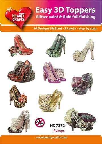 Hearty Crafts - Easy 3D Toppers - Pumps - HC7272