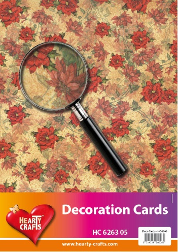 Hearty Crafts - Achtergrondpapier - Kerstroos - HC626305