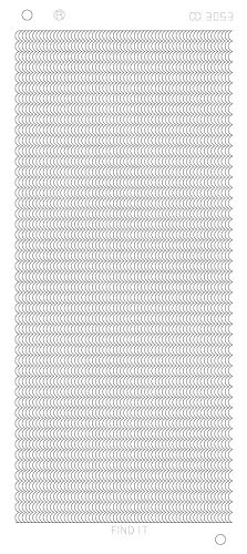 Card Deco - Stickervel - Platinum - Waving lines: Zilver