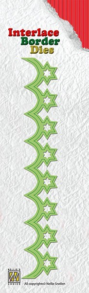 Nellie Snellen - Interlace border Die - Christmas Stars