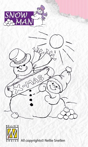 Nellie Snellen - Clearstamp - Snowmen - Snowy Christmas Wishes - SNM003
