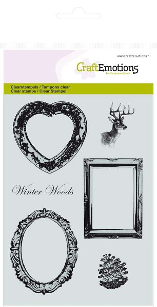 CraftEmotions - Clearstamp - Winter Woods - Frames - 130501/1042